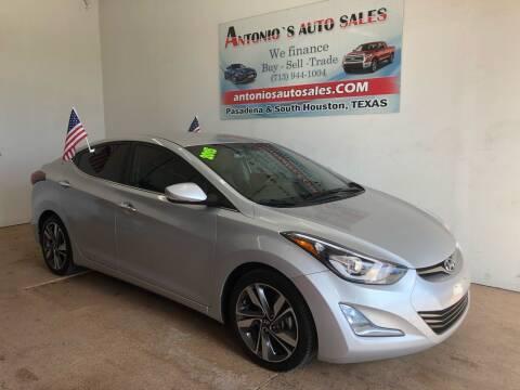 2015 Hyundai Elantra for sale at Antonio's Auto Sales - Antonio`s  2206 in Pasadena TX