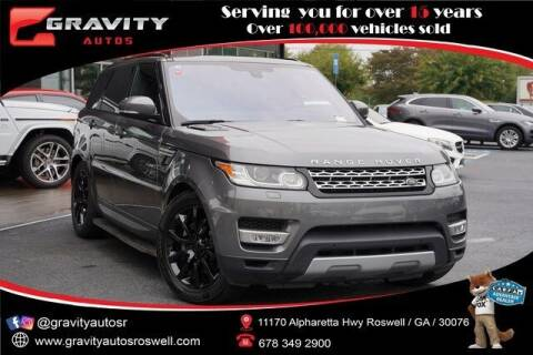 2016 Land Rover Range Rover Sport for sale at Gravity Autos Roswell in Roswell GA