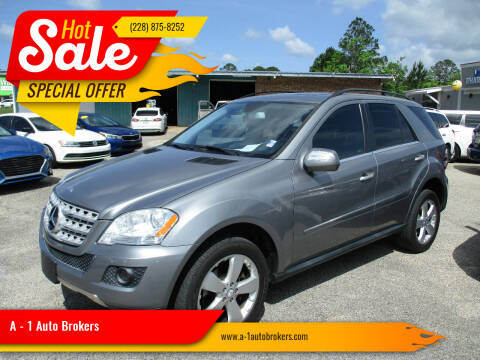 2010 Mercedes-Benz M-Class for sale at A - 1 Auto Brokers in Ocean Springs MS