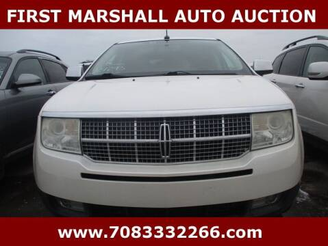 2010 Lincoln MKX for sale at First Marshall Auto Auction in Harvey IL