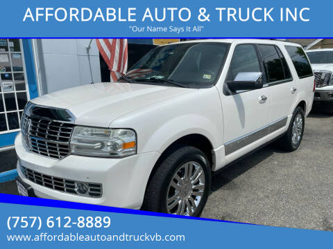 2010 Lincoln Navigator for sale at AFFORDABLE AUTO & TRUCK INC in Virginia Beach VA