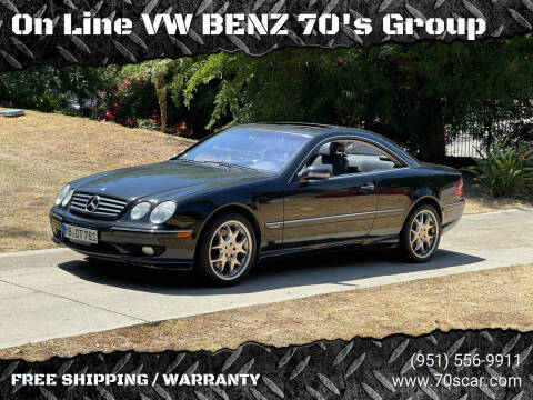 2001 Mercedes-Benz CL-Class for sale at On Line VW BENZ 70's Group in Warehouse CA