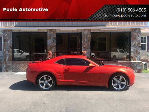 2010 Chevrolet Camaro for sale at Poole Automotive in Laurinburg NC
