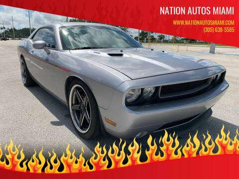 2014 Dodge Challenger for sale at Nation Autos Miami in Hialeah FL