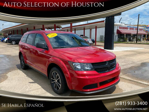 2017 Dodge Journey for sale at Auto Selection of Houston in Houston TX
