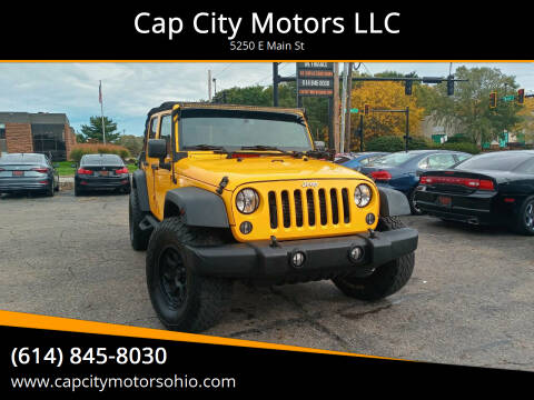 2015 Jeep Wrangler Unlimited for sale at Cap City Motors LLC in Columbus OH