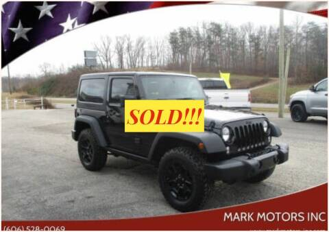2017 Jeep Wrangler for sale at Mark Motors Inc in Gray KY