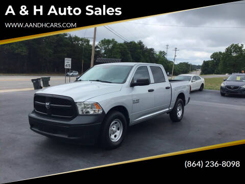 2016 RAM Ram Pickup 1500 for sale at A & H Auto Sales in Greenville SC