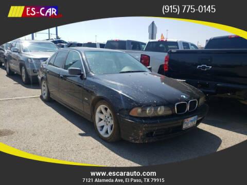 2003 BMW 5 Series for sale at Escar Auto in El Paso TX