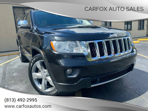 2011 Jeep Grand Cherokee for sale at Carfox Auto Sales in Tampa FL