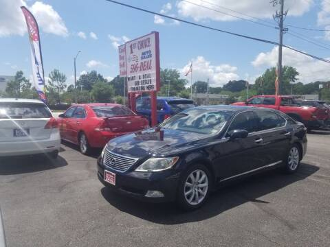 2007 Lexus LS 460 for sale at 1st Choice Auto Sales in Newport News VA