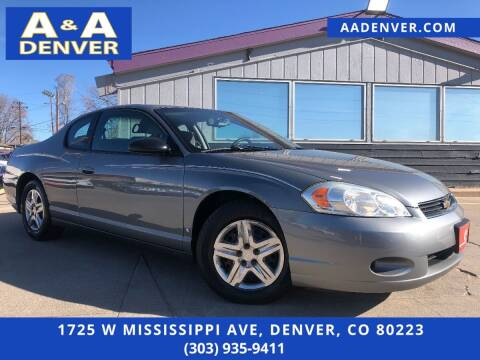 2007 Chevrolet Monte Carlo for sale at A & A AUTO LLC in Denver CO
