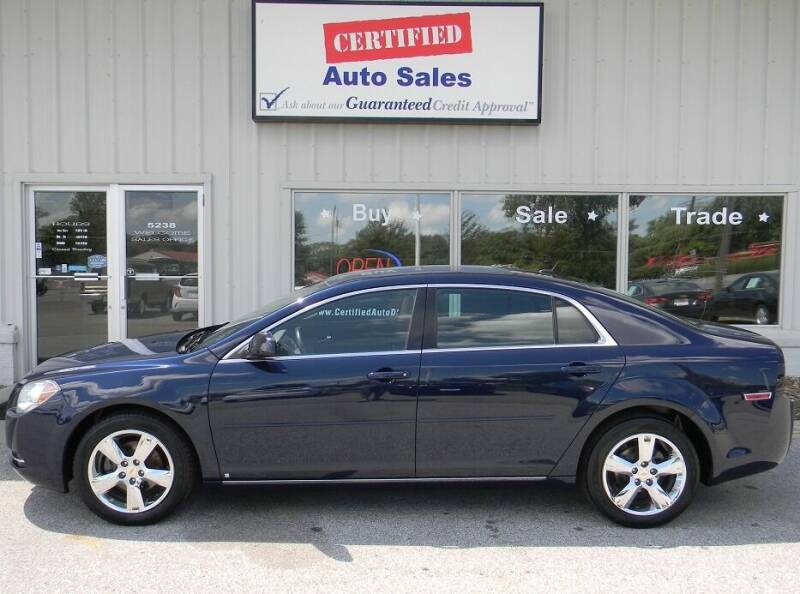 2010 Chevrolet Malibu for sale at Certified Auto Sales in Des Moines IA