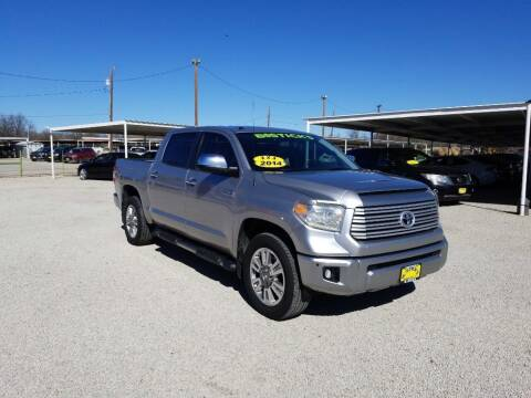 2014 Toyota Tundra for sale at Bostick's Auto & Truck Sales in Brownwood TX