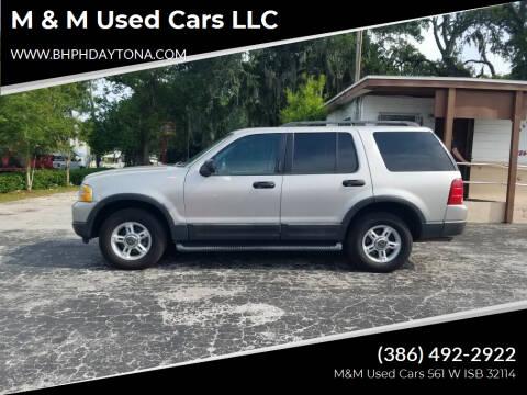 2003 Ford Explorer for sale at M & M Used Cars LLC in Daytona Beach FL