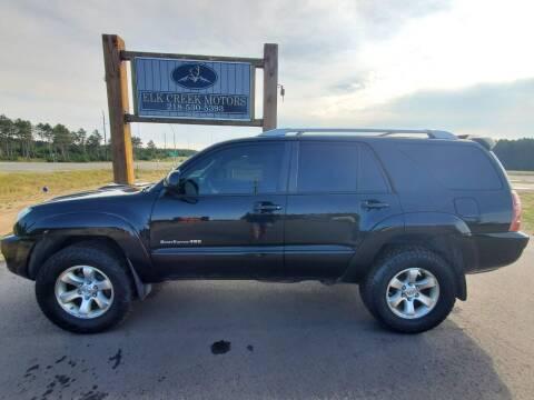 2005 Toyota 4Runner for sale at Elk Creek Motors LLC in Park Rapids MN