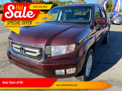 2010 Honda Ridgeline for sale at Auto Store of NC in Walkertown NC