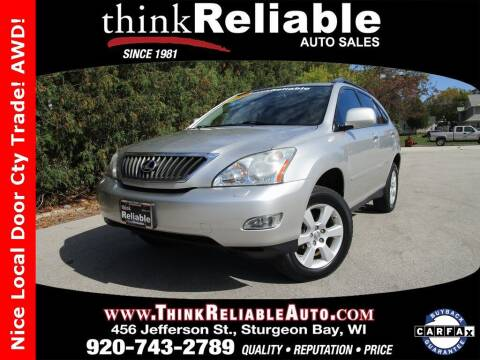 2008 Lexus RX 350 for sale at RELIABLE AUTOMOBILE SALES, INC in Sturgeon Bay WI