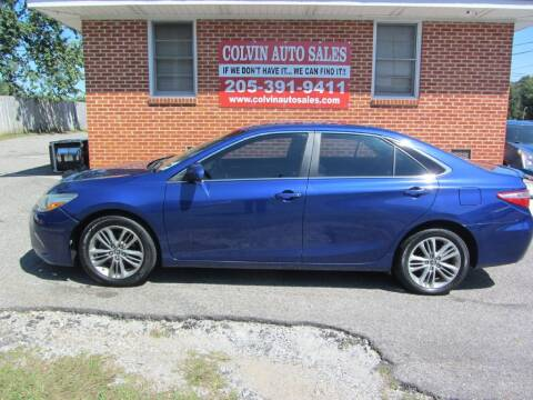 2015 Toyota Camry for sale at Colvin Auto Sales in Tuscaloosa AL