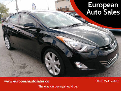 2013 Hyundai Elantra for sale at European Auto Sales in Bridgeview IL