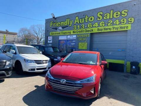 2019 Hyundai Elantra for sale at Friendly Auto Sales in Detroit MI