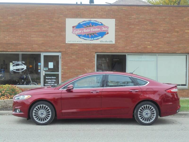 2016 Ford Fusion for sale at Eyler Auto Center Inc. in Rushville IL