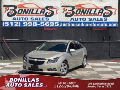 2013 Chevrolet Cruze for sale at Bonillas Auto Sales in Austin TX