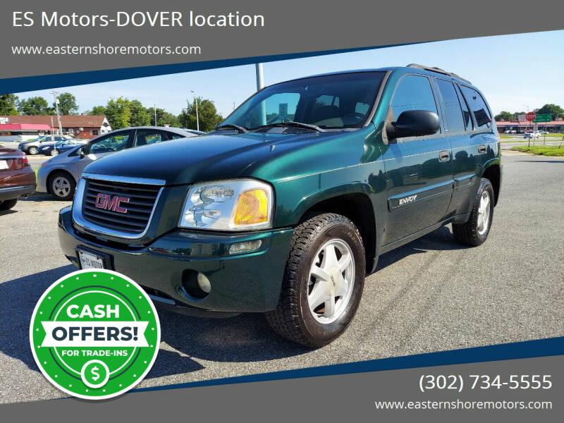 2002 GMC Envoy for sale at ES Motors-DAGSBORO location - Dover in Dover DE
