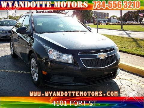 2012 Chevrolet Cruze for sale at Wyandotte Motors in Wyandotte MI