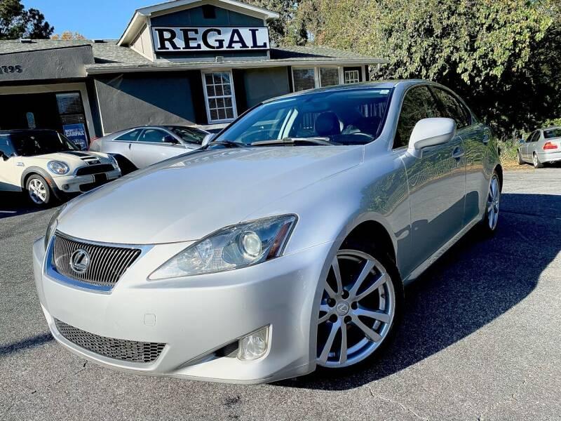 2006 Lexus IS 250 for sale at Regal Auto Sales in Marietta GA