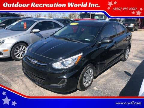 2017 Hyundai Accent for sale at Outdoor Recreation World Inc. in Panama City FL