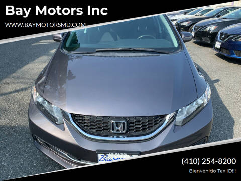 2014 Honda Civic for sale at Bay Motors Inc in Baltimore MD