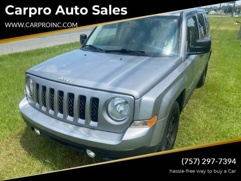 2016 Jeep Patriot for sale at Carpro Auto Sales in Chesapeake VA