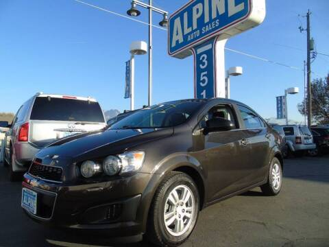 2015 Chevrolet Sonic for sale at Alpine Auto Sales in Salt Lake City UT
