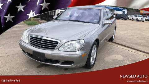 2004 Mercedes-Benz S-Class for sale at Newsed Auto in Houston TX