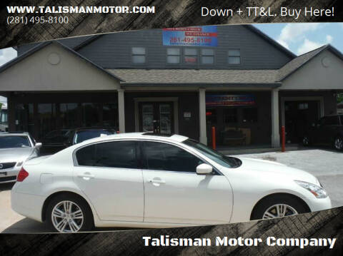 2012 Infiniti G37 Sedan for sale at Don Jacobson Automobiles in Houston TX