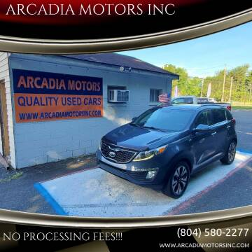 2012 Kia Sportage for sale at ARCADIA MOTORS INC in Heathsville VA