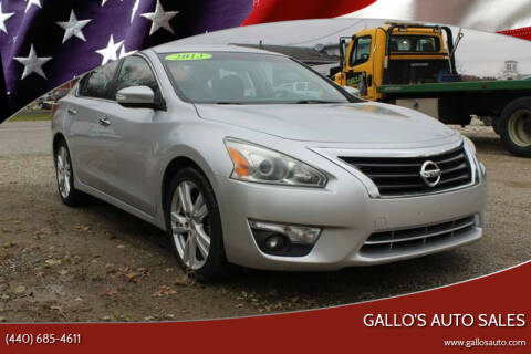 2013 Nissan Altima for sale at Gallo's Auto Sales in North Bloomfield OH