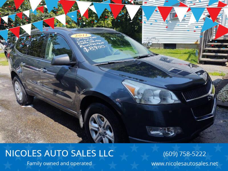 2011 Chevrolet Traverse for sale at NICOLES AUTO SALES LLC in Cream Ridge NJ