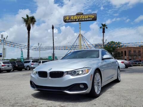 2016 BMW 4 Series for sale at A MOTORS SALES AND FINANCE - 10110 West Loop 1604 N in San Antonio TX