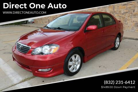 2006 Toyota Corolla for sale at Direct One Auto in Houston TX
