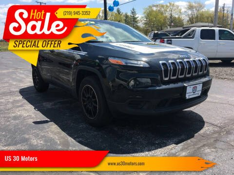 2014 Jeep Cherokee for sale at US 30 Motors in Merrillville IN