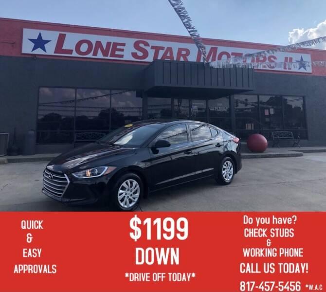 2018 Hyundai Elantra for sale at LONE STAR MOTORS II in Fort Worth TX