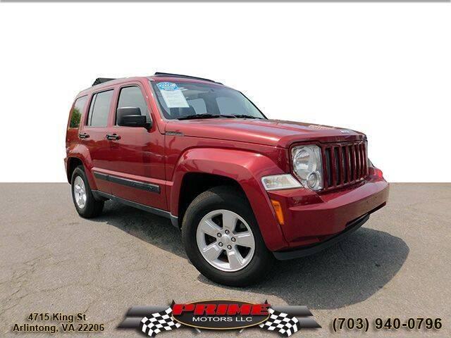2011 Jeep Liberty for sale at PRIME MOTORS LLC in Arlington VA