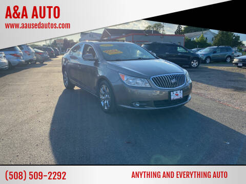 2010 Buick LaCrosse for sale at A&A AUTO in Fairhaven MA