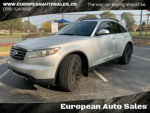 2008 Infiniti FX35 for sale at European Auto Sales in Bridgeview IL