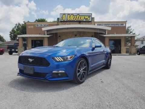 2017 Ford Mustang for sale at A MOTORS SALES AND FINANCE - 10110 West Loop 1604 N in San Antonio TX
