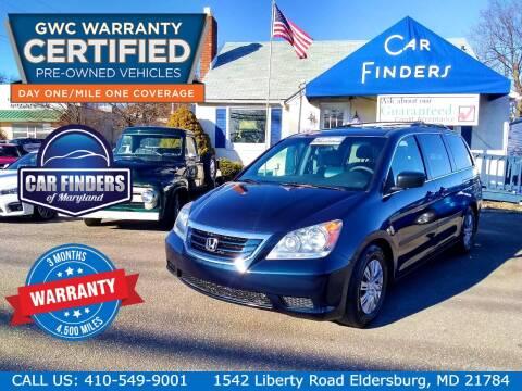 2010 Honda Odyssey for sale at CAR FINDERS OF MARYLAND LLC in Eldersburg MD