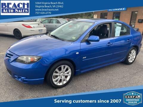 2004 Mazda MAZDA3 for sale at Beach Auto Sales in Virginia Beach VA