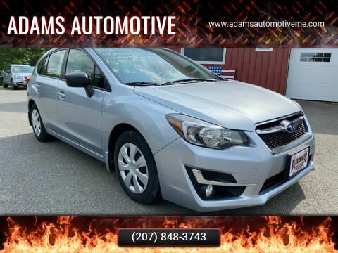 2016 Subaru Impreza for sale at Adams Automotive in Hermon ME